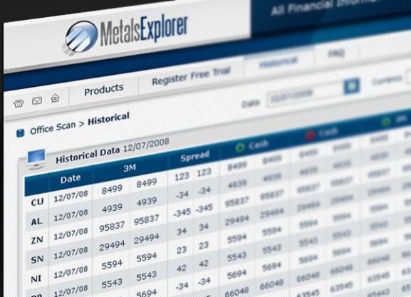 דוגמה אפיון | GUI | Metals Explorer | GUI | איפיון | פיתוח אפליקציה לאייפון