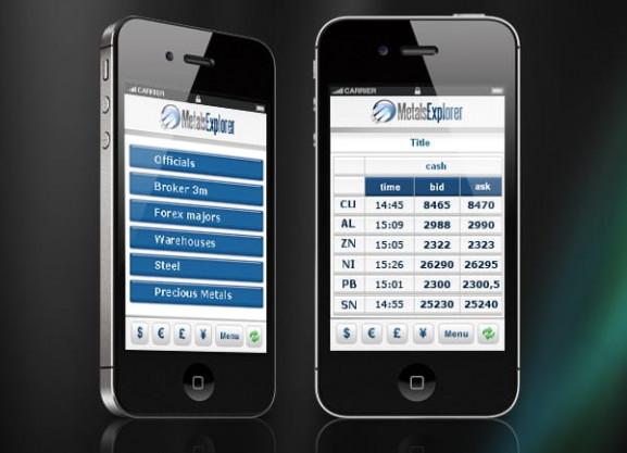 דוגמה אפיון | GUI | Metals Explorer | GUI | ממשק משתמש | פיתוח אפליקציה לאייפון