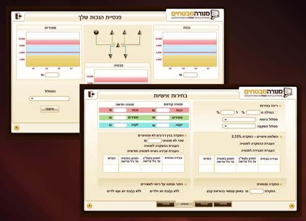דוגמה אפיון אפליקציה | GUI | איפיון | מנורה מבטחים | ממשק משתמש | תוכנה