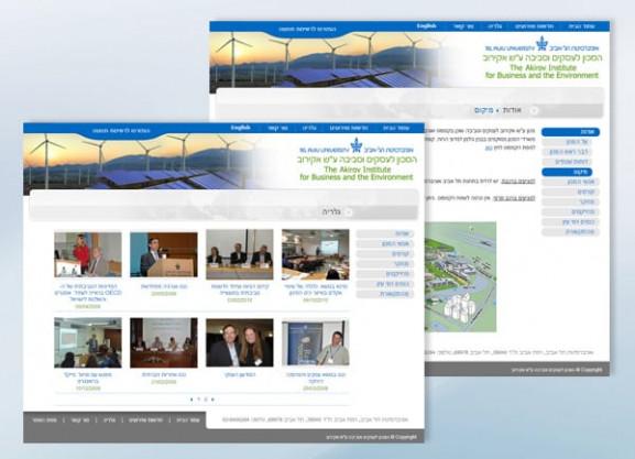דוגמה בניית אתר | המכון לעסקים וסביבה | אוניברסיטת ת