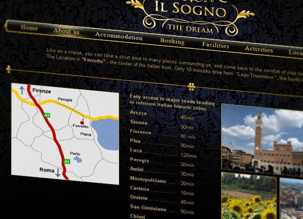דוגמה בניית אתר | Il-songo Italy | הקמת אתרים | עיצוב | תדמיתי | שיווק באינטרנט | תדמית