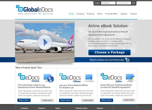 דוגמה עיצוב אתר   Global eDocs   בלוג   פורטל   בניית אתרים   קידום   אתרי