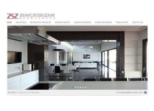 דוגמה בניית אתר| אדריכלית זהבית שפיצר זוהר | עיצוב אתרים | קידום | אינטרנט
