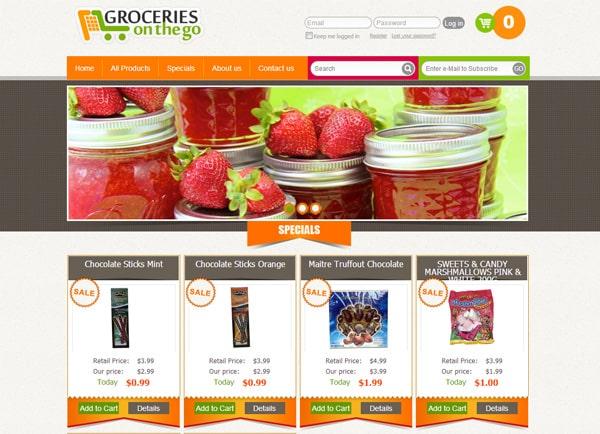 תדמיתי | אתר בהקמה | מסחרי | Groceries on the go | חנות | Ecommerce | דוגמה בניית