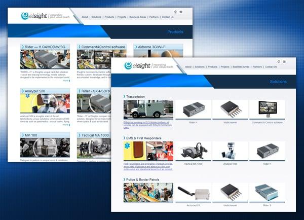 בניית אתר   תדמית   תדמיתי   מיתוג   הקמת   מצגת עסקית   Elsight   עיצוב אתרים