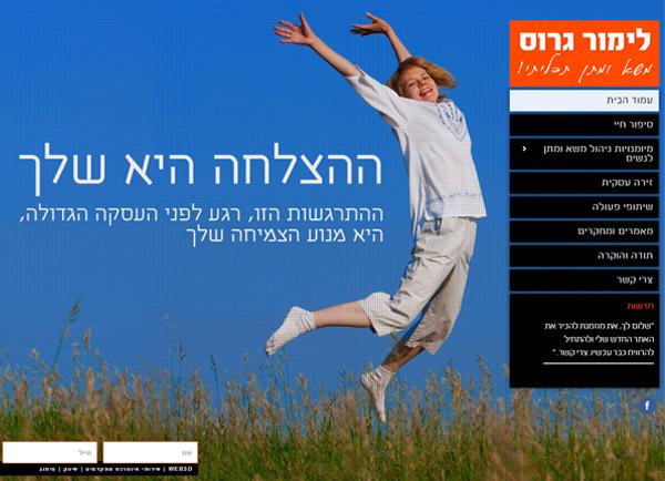 בניית אתר תדמיתי | לימור גרוס | הקמת אתרים | עיצוב | תדמית