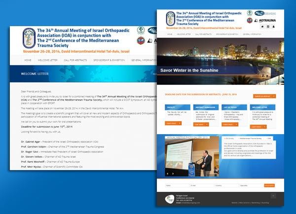 כנס האיגוד הישראלי לאורתופדיה | בניית אתרי אינטרנט | עיצוב