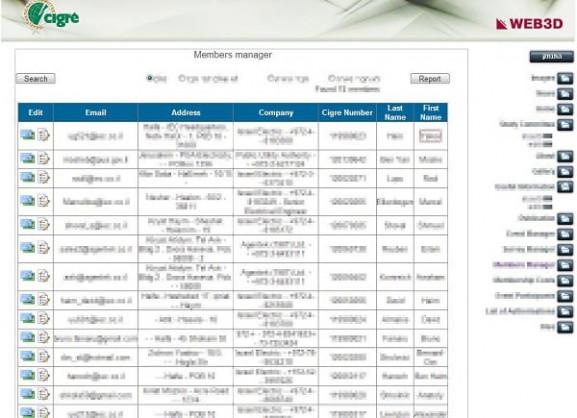 הקמת פורטל   פורטלים ארגוניים   CIGRE   מערכת ניהול מידע