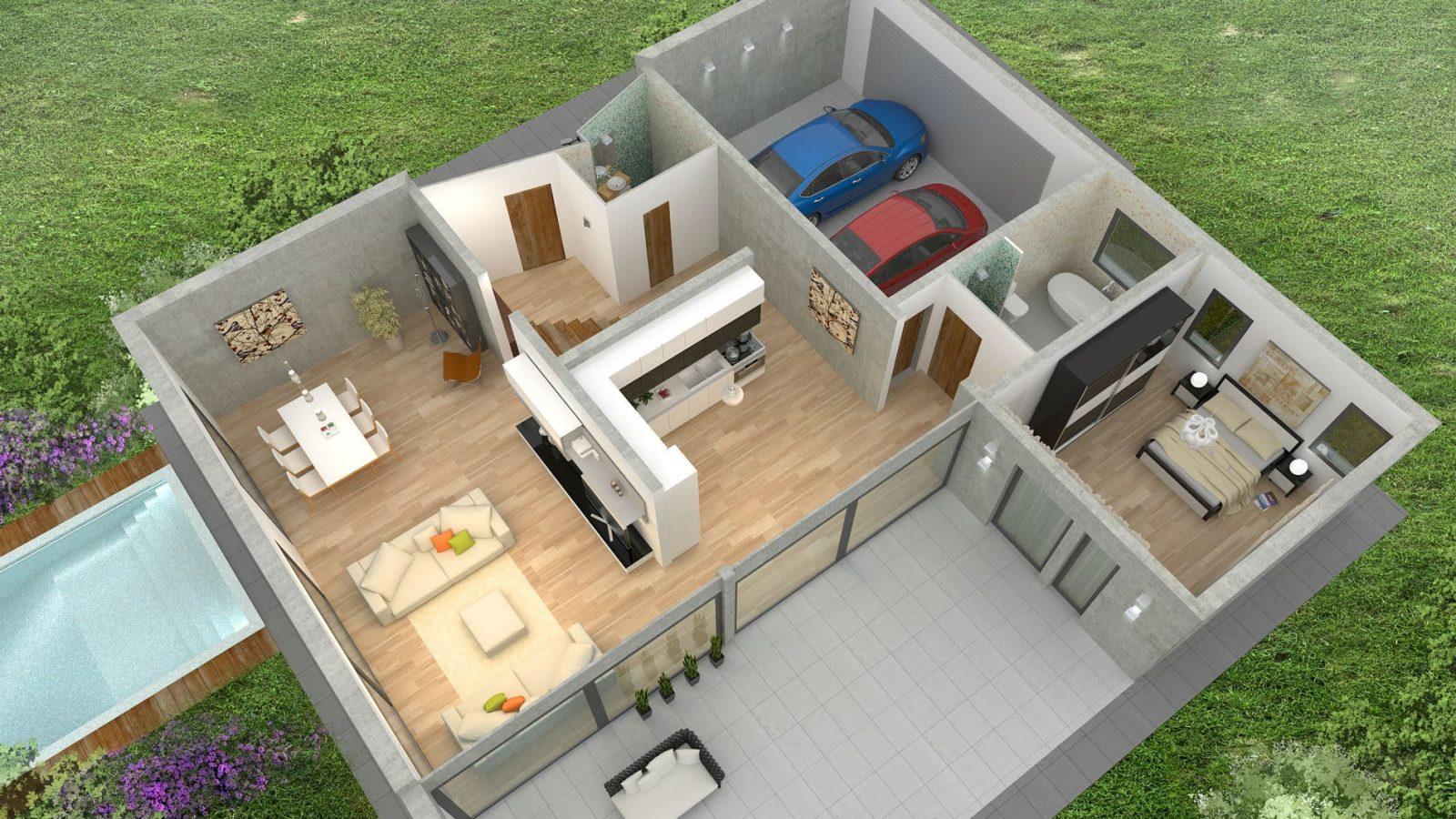 Web3D - תלת מימד - אילוסטרציה של הבית