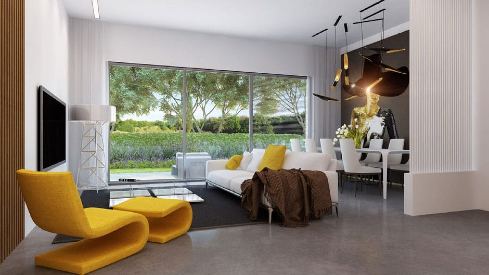 Web3D - תלת מימד - אילוסטרציה של סלון בבית