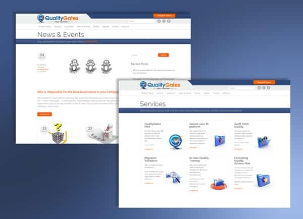 עיצוב אתרי אינטרנט   בניית אתרים   QualityGates