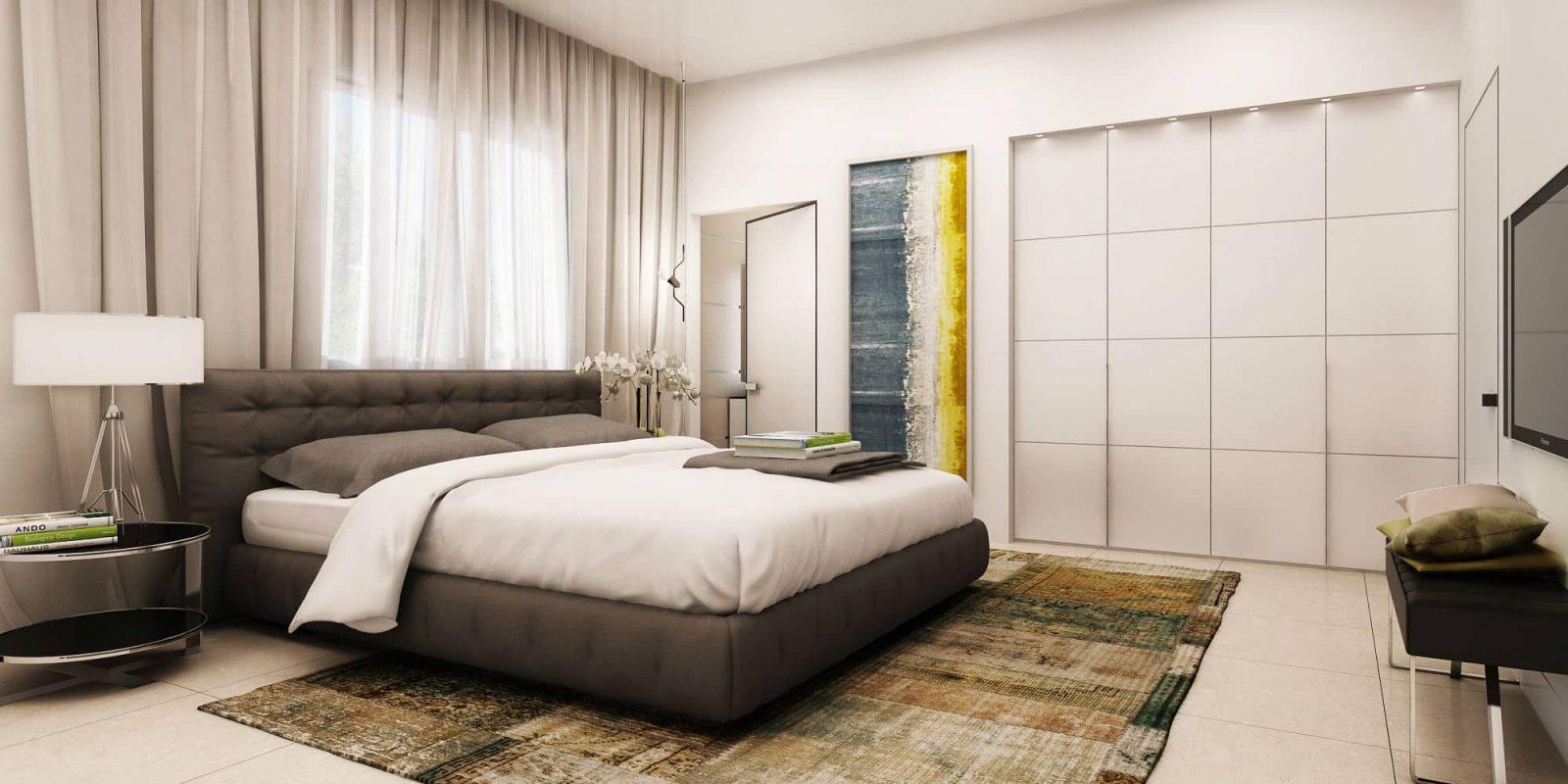 הדמיות תלת מימד | אדריכליות | חדר שינה: שגראווי SBI יוקנעם