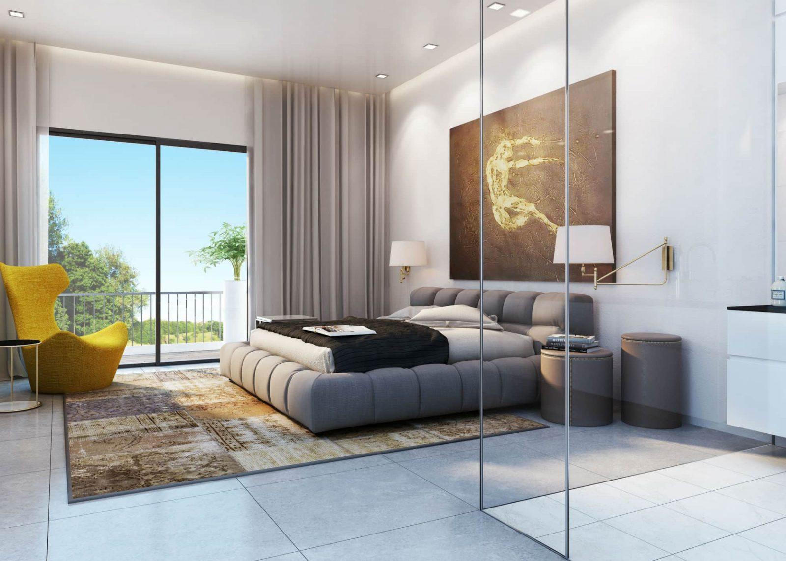 Web3D - הדמיות אדריכלות - אילוסטרציה של חדר שינה