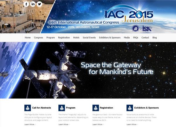 בניית אתר אינטרנט   כנס קונגרס החלל 2015   הקמת אתרים   עיצוב