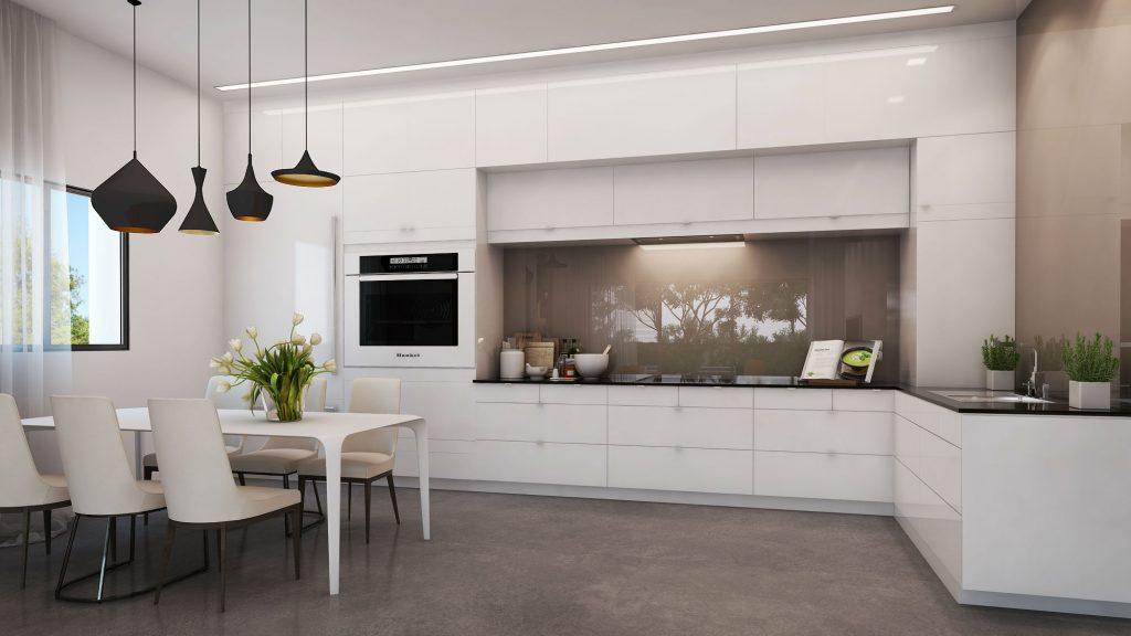 Web3D - הדמיות ממוחשבות - צילום של מטבח