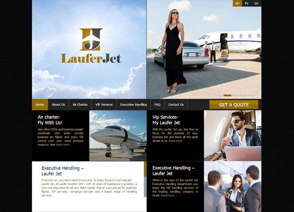בניית אתר תדמיתי | Laufer Jet | תדמית | עיצוב אתרים | הקמת