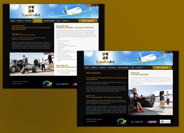 בניית אתר תדמיתי | Laufer Jet | תדמית אתרי אינטרנט | עיצוב אתרים | הקמת