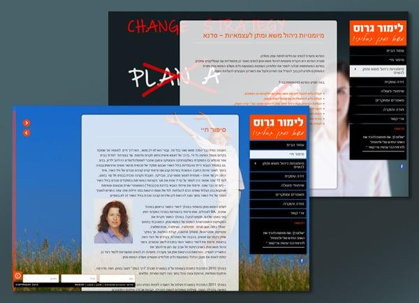 בניית אתר תדמיתי   לימור גרוס   הקמת אתרים   עיצוב   תדמית   אתרי אינטרנט