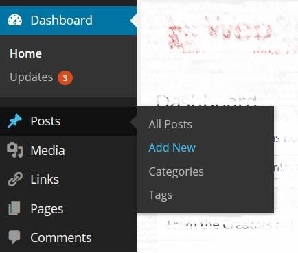 מדריך וורדפרס, פתיחת פוסט חדש, מערכת ניהול תוכן WordPress