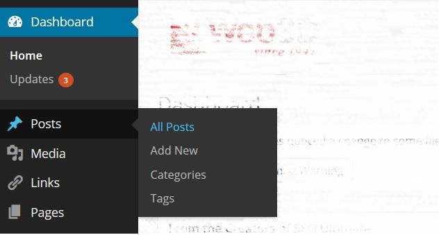 מדריך וורדפרס, הצגת כלל הפוסטים, מערכת ניהול תוכן