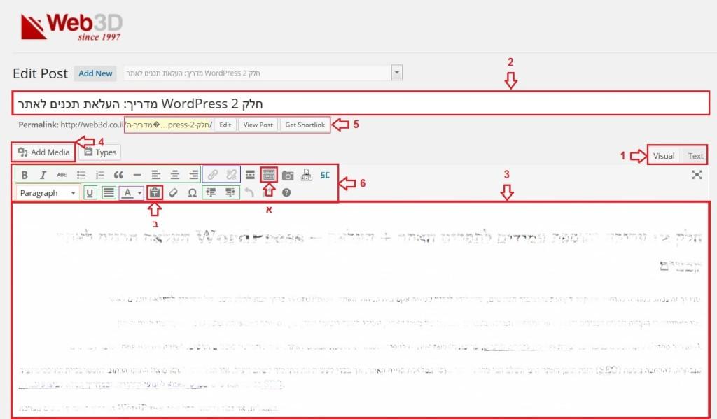 מדריך וורדפרס, אזור אישי - עמוד פוסט, מערכת ניהול תוכן WordPress