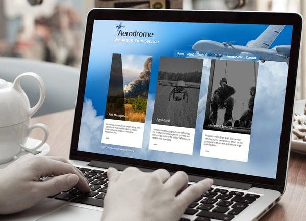 הקמת אתרי אינטרנט מעוצבים - Aerodrome עמ