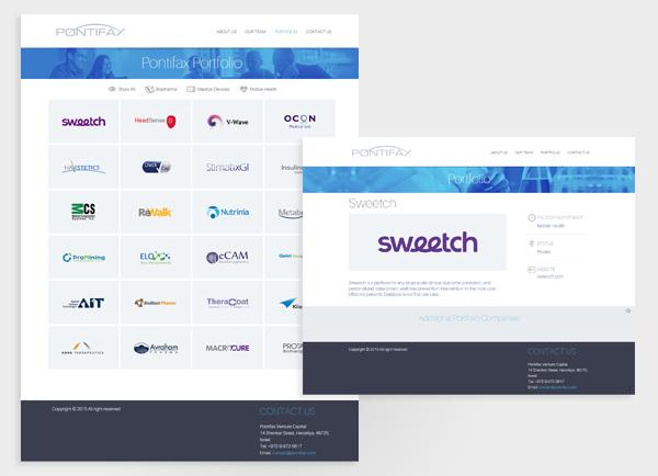 בניית אתרים לעסקים, אתר תדמית לעסק, pontifax