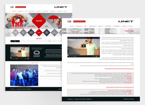web3d, unet, עיצוב אתרים, אתר תדמית