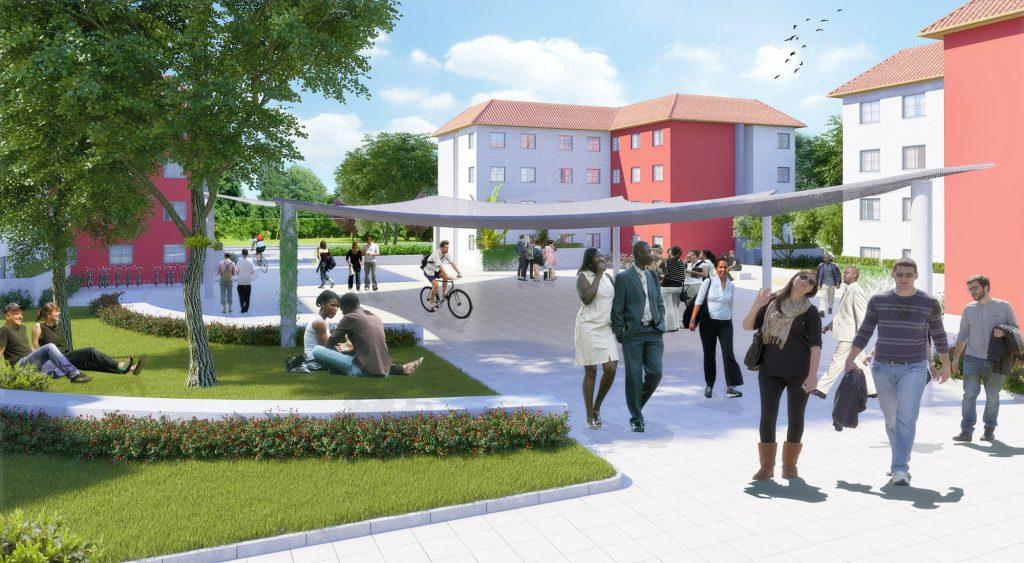 הדמיות תלת מימד | הדמיית מעונות סטודנטים לחברת דניה סיבוס