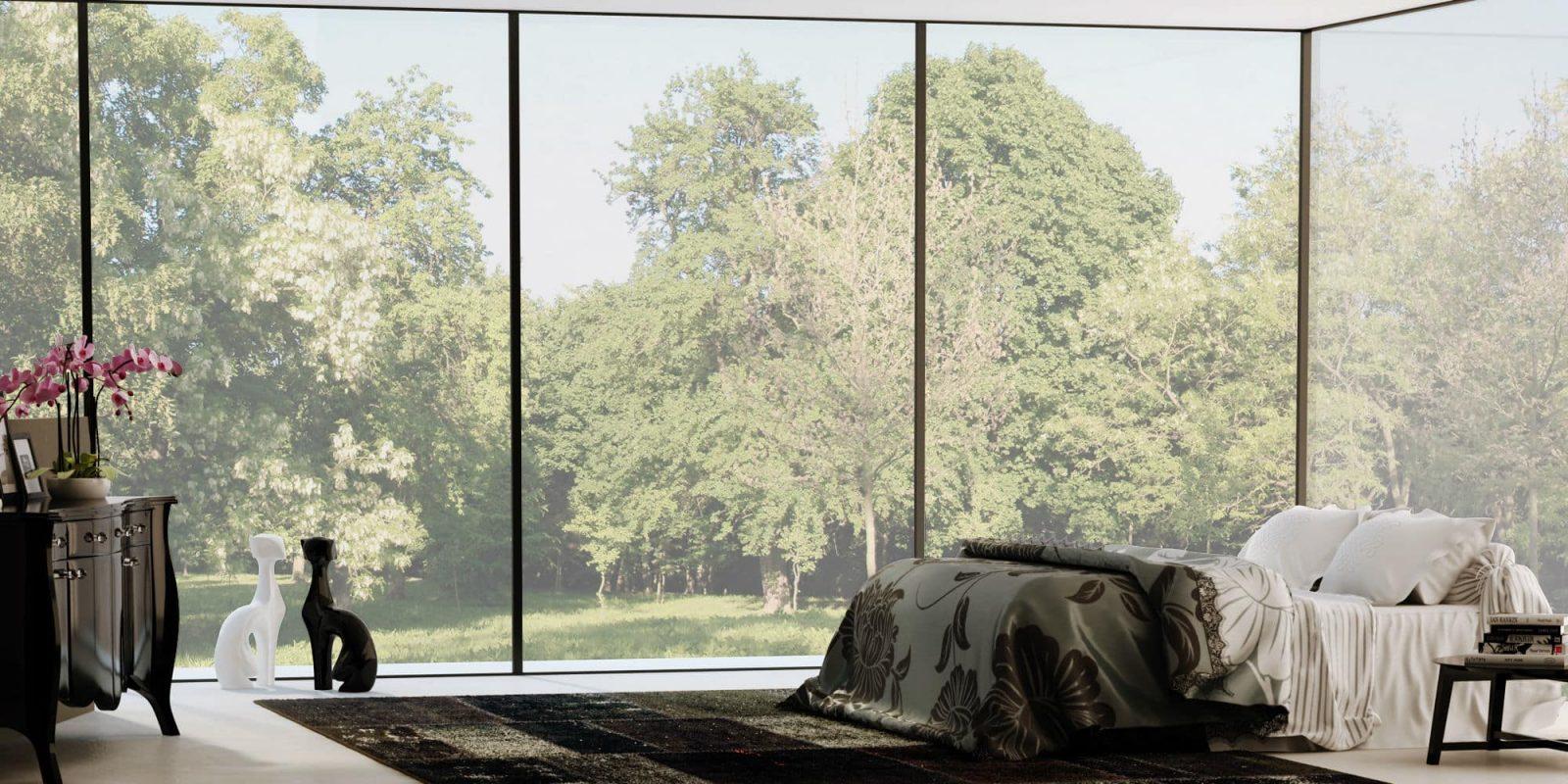 הדמיה אדריכלית חלון עם נוף