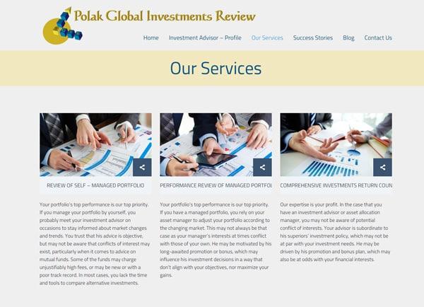 polak investment, אתר אינטרנט, תדמית, לעסקים