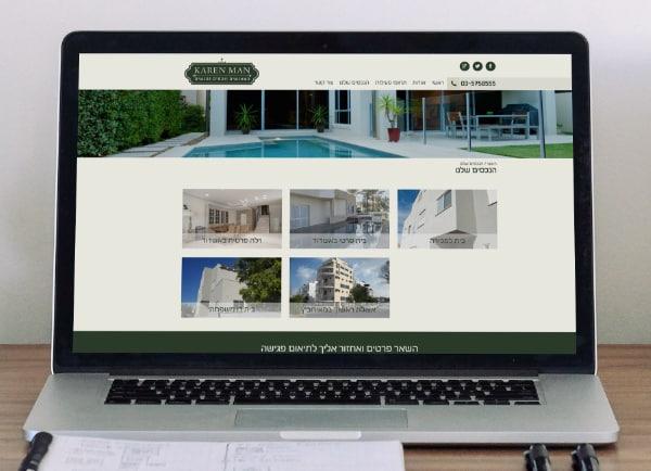 אתר וורדפרס - עיצוב אתרים, תדמיתי