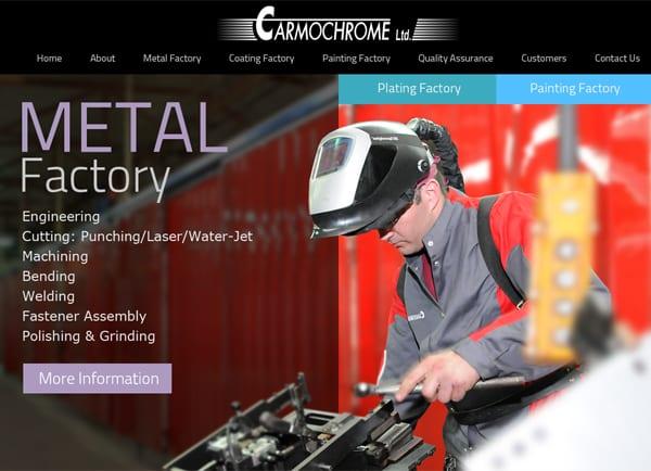 מאמר עיצוב אתר אינטרנט: Carmochrome – מפעל מתכת, ציפוי וצביעה