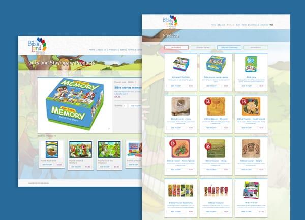 web3d, בניית חנות וירטואלית, Bible land