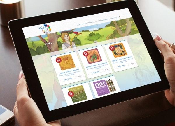 web3d, אייפד, אתר תדמית, Bible land