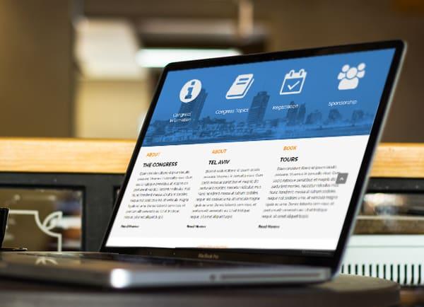 פיתוח אתר אינטרנט | כנס הטכנולוגיה בספורט 2017 | עיצוב