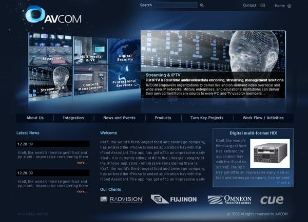 Web3D | בניית אתר לחברת: AVCOM