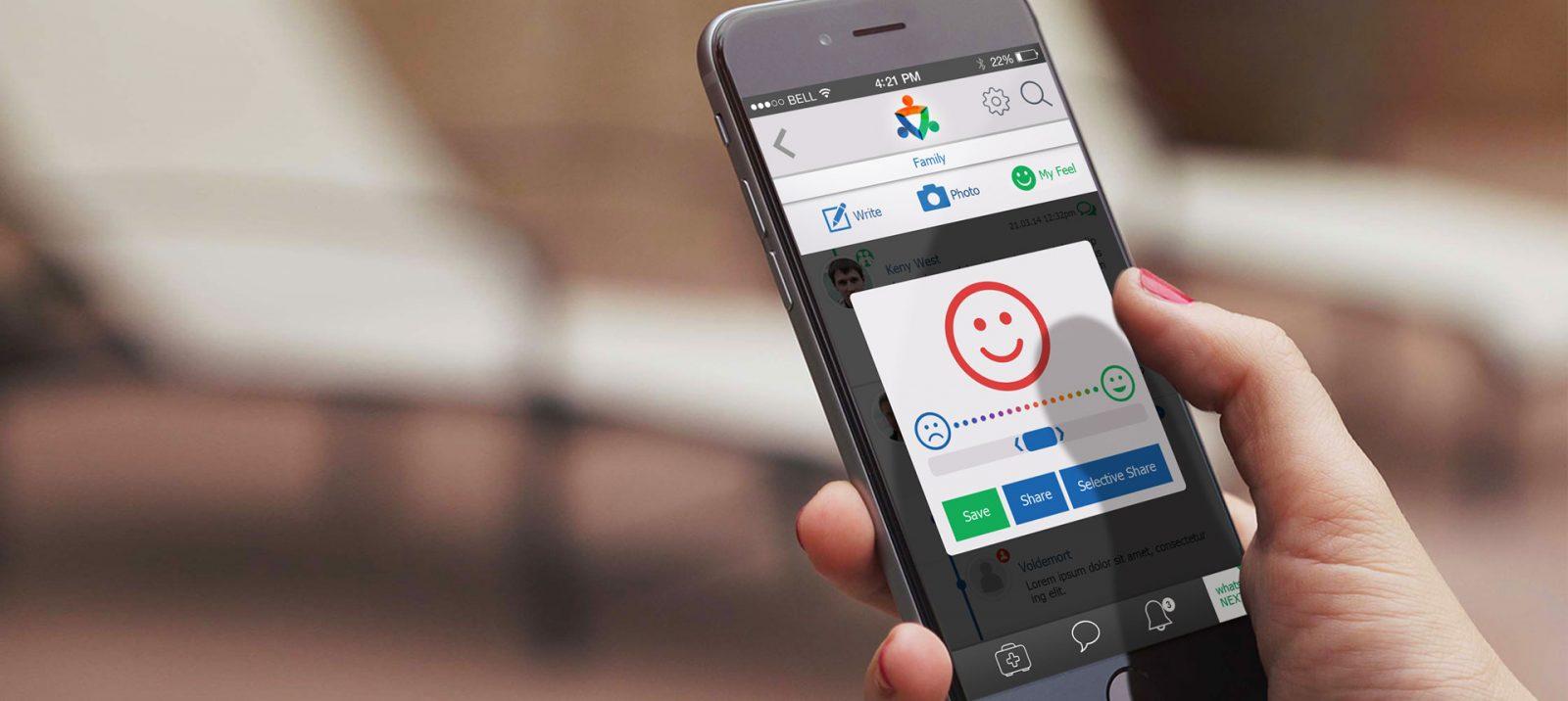 belong, עיצוב אפליקציה, UI