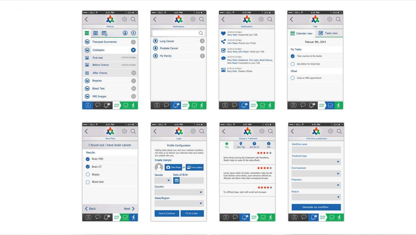 belong, עיצוב אפליקציה, GUI
