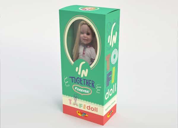 Web3D | מיתוג עסקי | עיצוב: אריזת בובות Tofi Doll