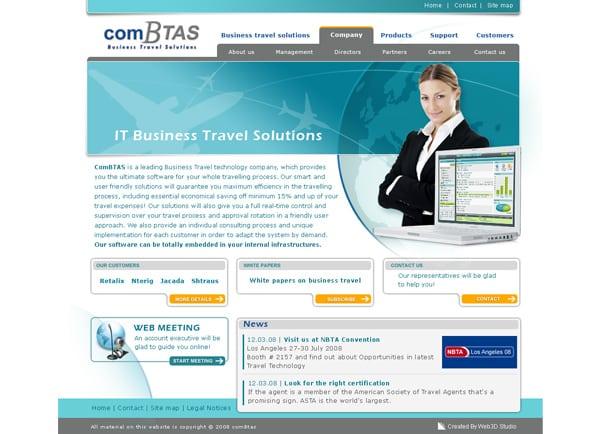 Web3D   אתר תדמית   אתר חברת ComBtas