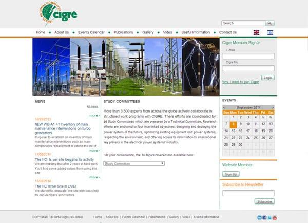 Web3D | פורטל | פיתוח מערכת ניהול מידע לארגון הלאומי הישראלי CIGRE