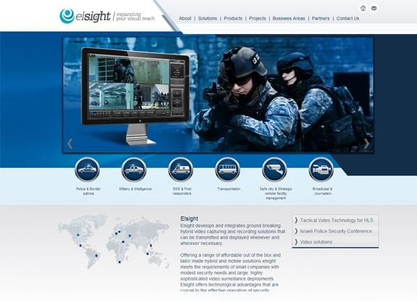 Web3D | בניית אתר אינטרנט | אתר תדמית: Elsight