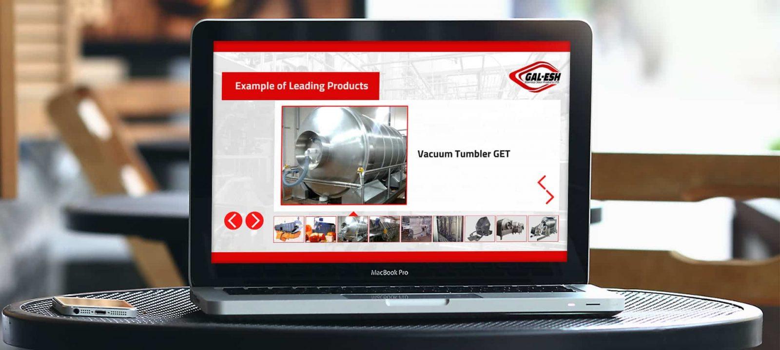 עיצוב מצגת עסקית – Gal Esh | מפעל לייצור נירוסטה