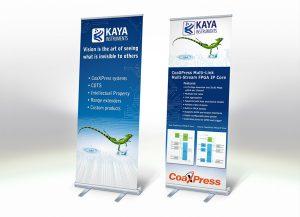Web3D | מיתוג עסקי | עיצוב תערוכות | רולאפ לדוגמה: KAYA