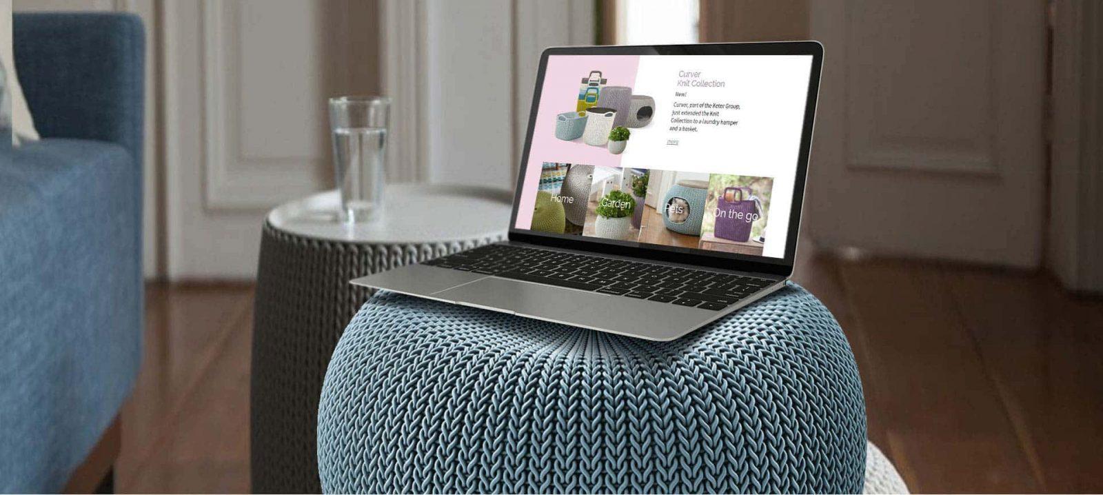 פרויקט עיצוב אתרים | אתר תדמית: Knit