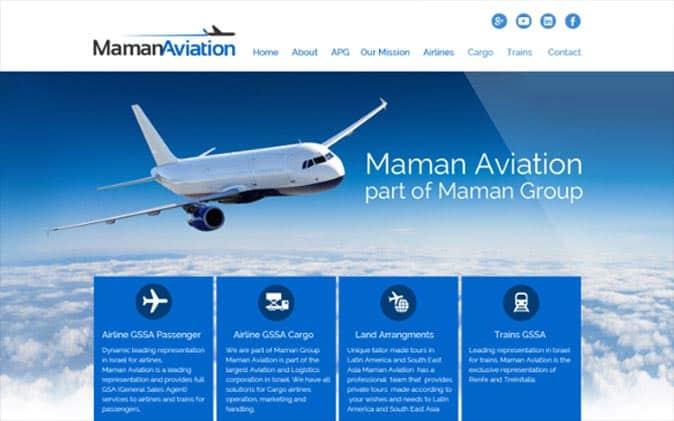 עיצוב אתר תדמיתי | חברת תעופה – Maman Aviation