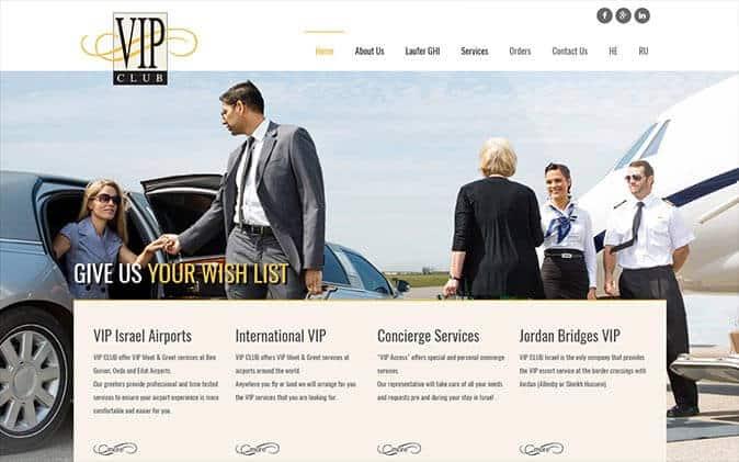 Web3D - אתר של vip club