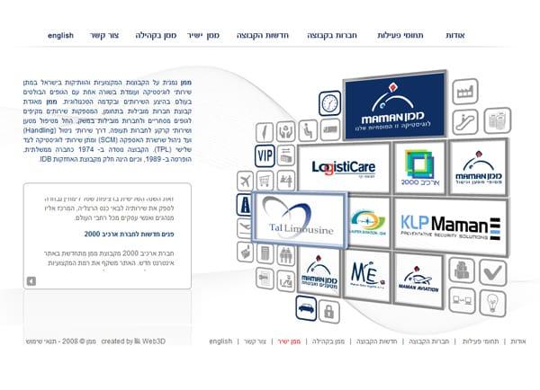 Web3D | בניית אתר: קבוצת ממן