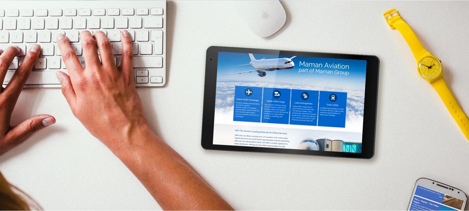 פרויקט עיצוב אתר תדמיתי | חברת תעופה – Maman Aviation